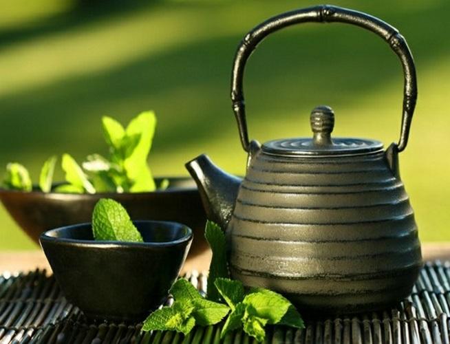 chá verde japones